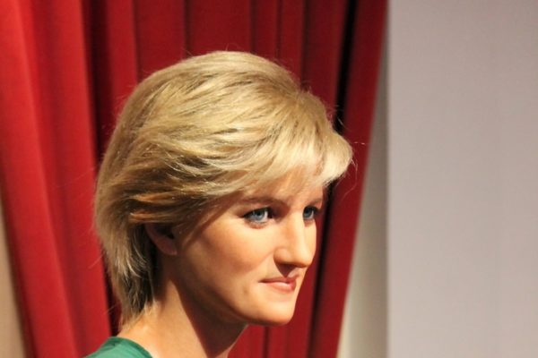 London, United Kingdom - March 20, 2017: Princess Diana portrait figure waxwork wax figure at museum London